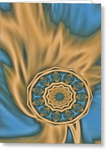 Liquid Kindle In Gold Greeting Card by Linda Phelps