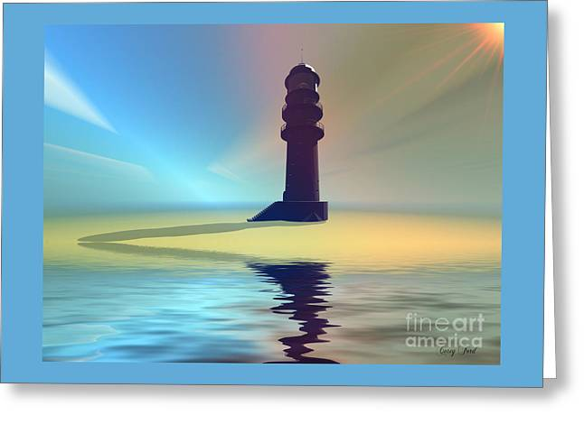 Liquid Lights Greeting Card by Corey Ford
