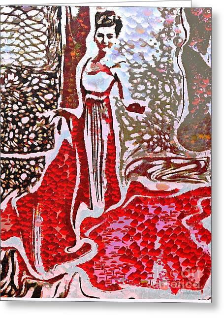 Liquid Red Greeting Card