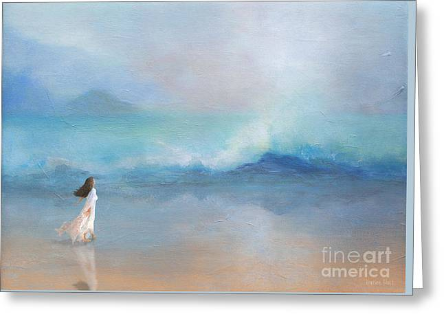 Liquid Silence Listening Greeting Card by Korrine Holt