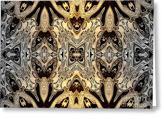 Liquid Silver And Gold Patterns Greeting Card