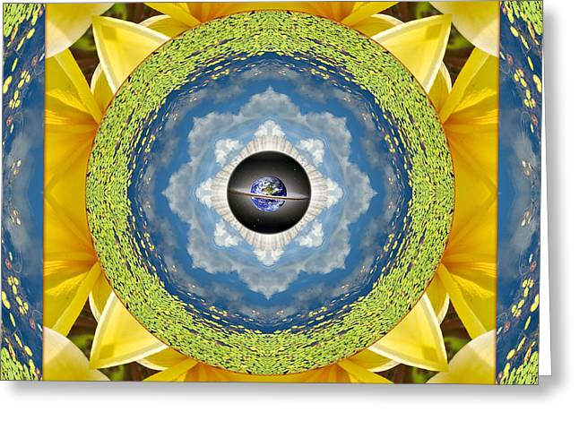 Light Blue Chakra Greeting Cards - Liquid Sky Greeting Card by Bell And Todd