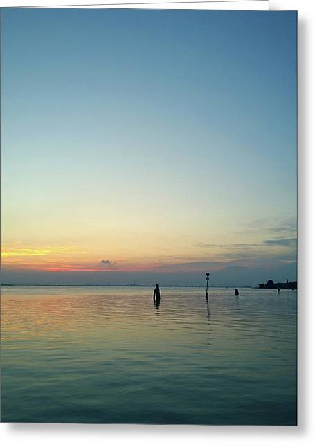 Greeting Card featuring the photograph Liquid Sunset by Anne Kotan