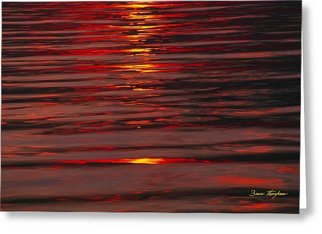 Liquid Sunset - Lake Geneva Wisconsin Greeting Card