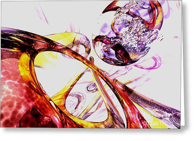 Liquified Abstract Greeting Card