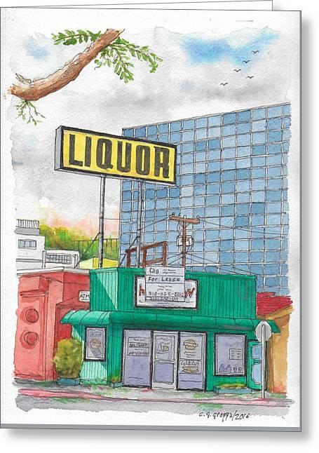 Liquor For Lease In Burbank, California Greeting Card
