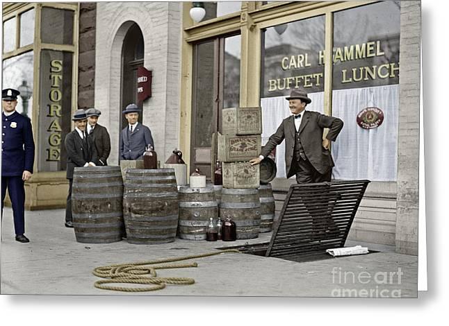 Liquor Raid, 1923 Greeting Card by Granger