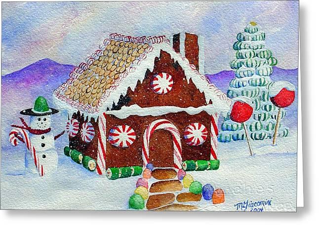 Lisa's Gingerbread House Greeting Card