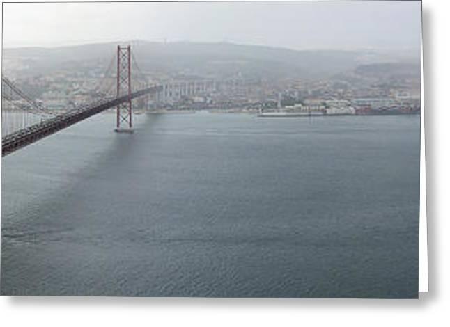 Lisbon On A Foggy Day Greeting Card by Bruno Rosa