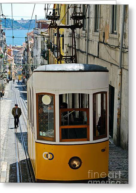 Lisbon - Portugal - Elevador Da Bica Greeting Card