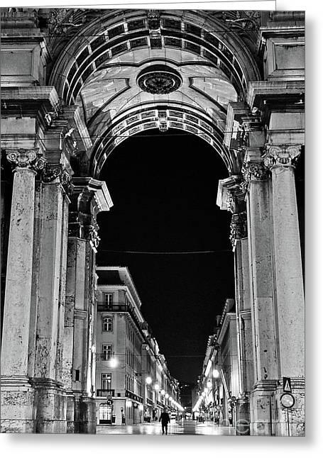 Lisbon - Portugal - Triumphal Arch - Rua Augusta Greeting Card