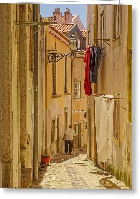 Lisbon Street # 1 Greeting Card