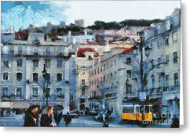 Lisbon Street Greeting Card