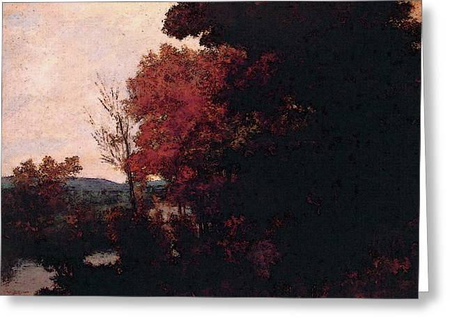 Lisiere De Foret Greeting Card by Gustave Courbet