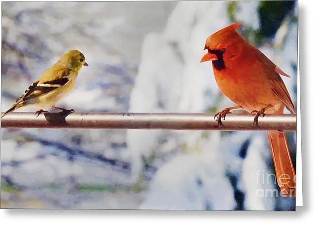 Listen Young One Greeting Card by Arnie Goldstein
