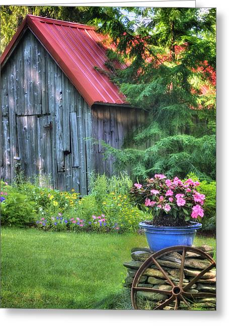 Cottage Summer Scene  Greeting Card