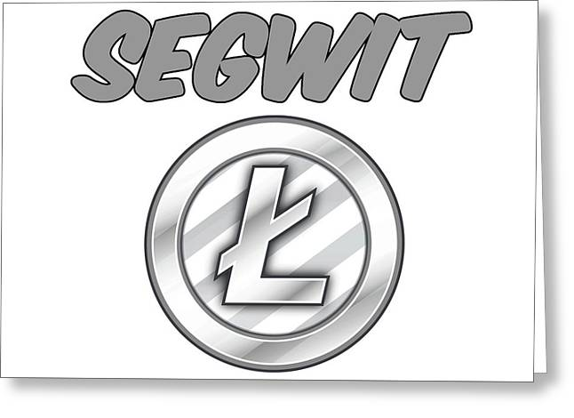 Litecoin Segwit Greeting Card by Britten Adams
