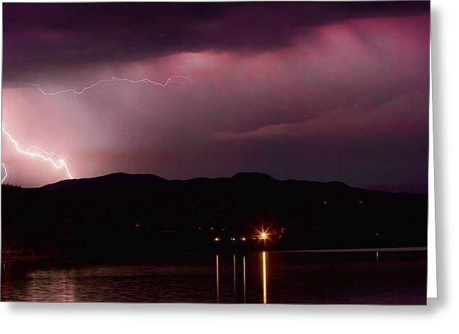Litghtning In The Air Greeting Card by James BO  Insogna