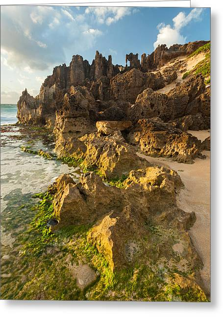 Lithified Cliffs Greeting Card