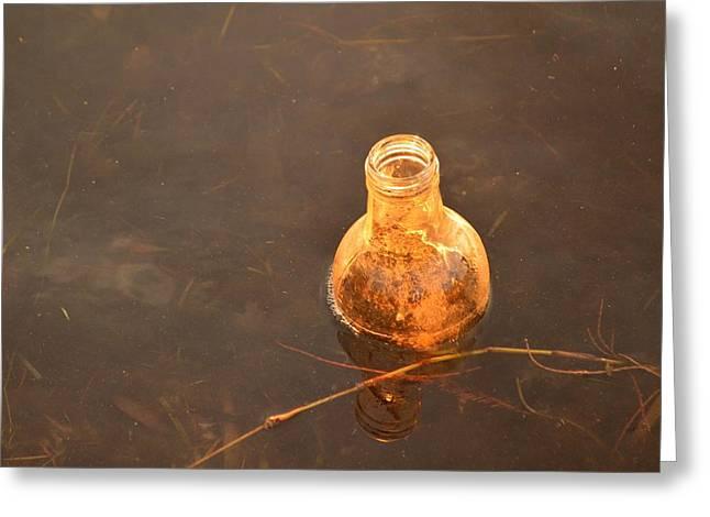 Litter As Art - Orange Bottle Greeting Card