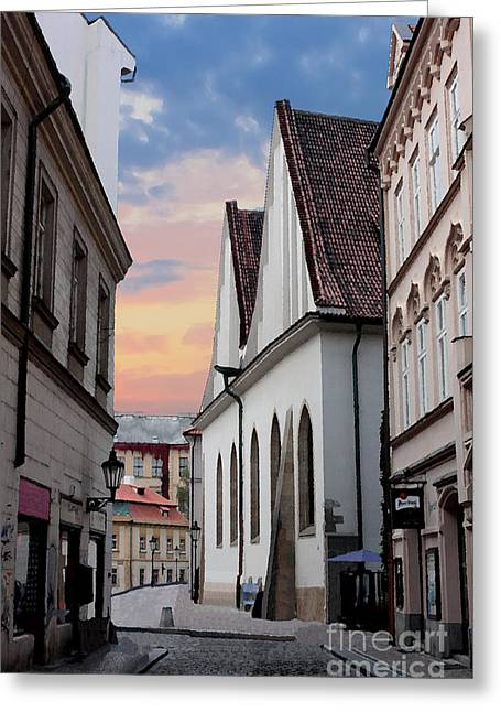 Little Alley In Prague Greeting Card