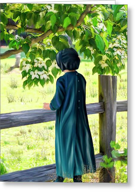 Little Amish Girl Greeting Card