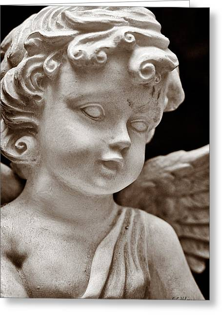 Little Angel - Sepia Greeting Card by Christopher Holmes