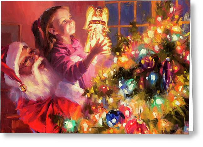 Little Angel Bright Greeting Card