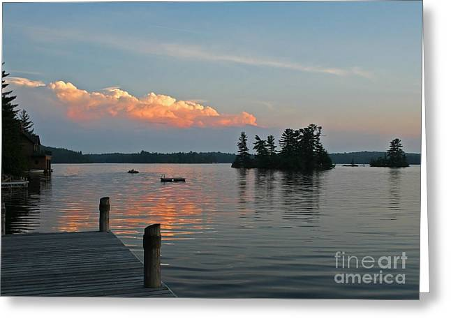 Little Bald Lake Greeting Card by Barbara McMahon