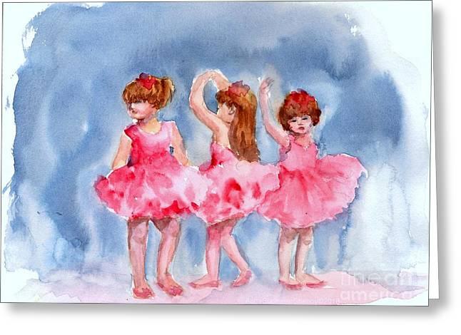 Little Ballerinas Greeting Card