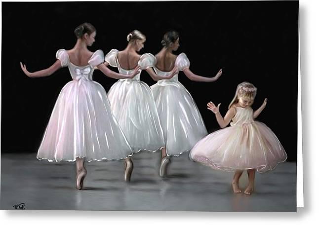 Little Ballerina's Dream Greeting Card