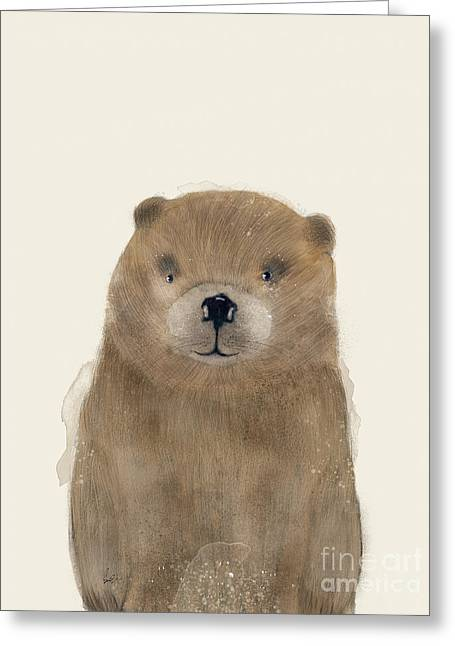 Greeting Card featuring the painting Little Beaver by Bri B