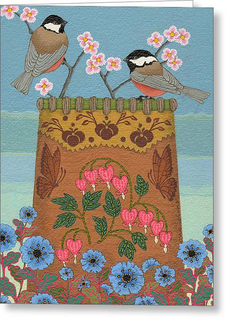 Greeting Card featuring the painting Little Bird by Chholing Taha
