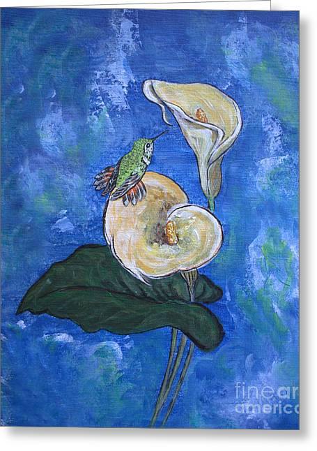 Little Bird Greeting Card by Ella Kaye Dickey