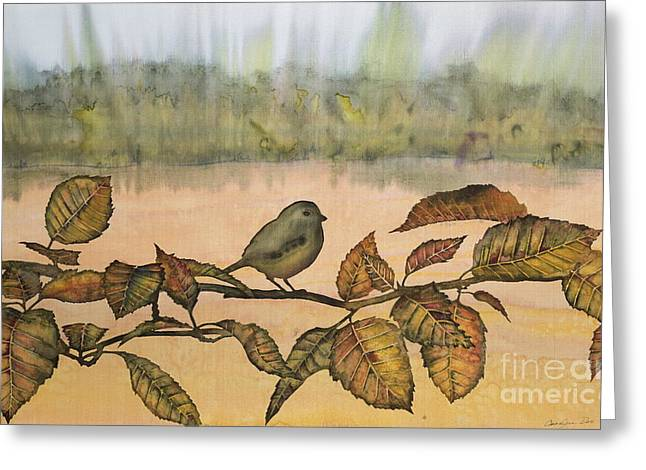 Little Bird On A Branch Greeting Card by Carolyn Doe