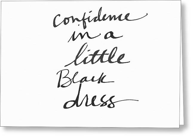 Little Black Dress - Art By Linda Woods Greeting Card by Linda Woods