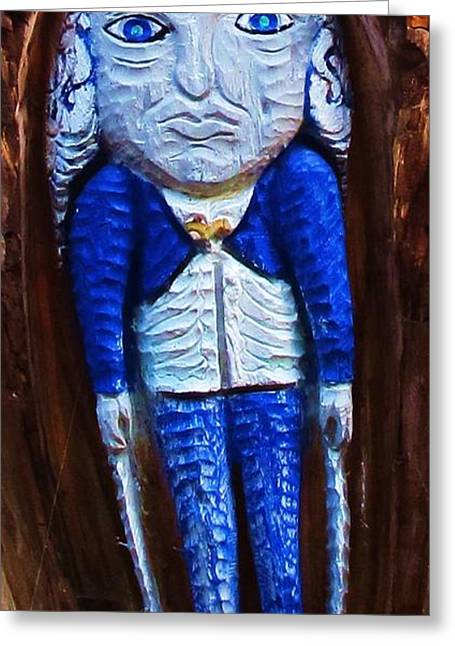 Little Blue Person Greeting Card by John King