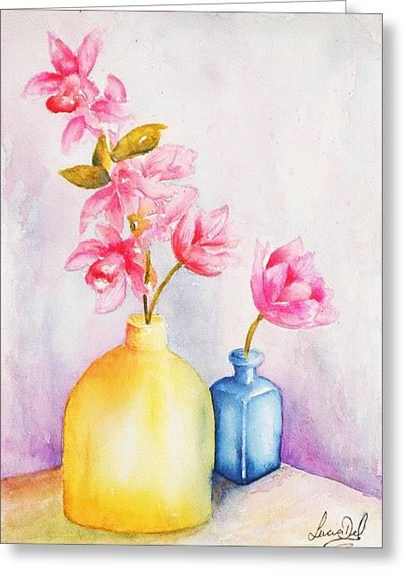 Little Blue Vase Greeting Card