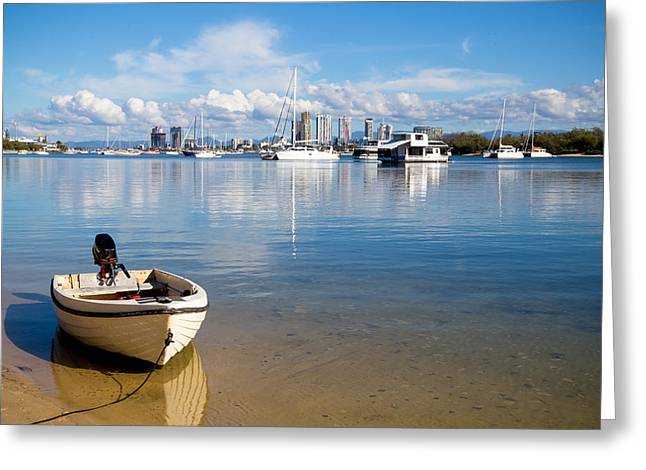 Little Boat Greeting Card by Keith Hawley