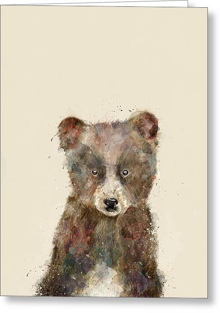 Little Brown Bear Greeting Card by Bri B