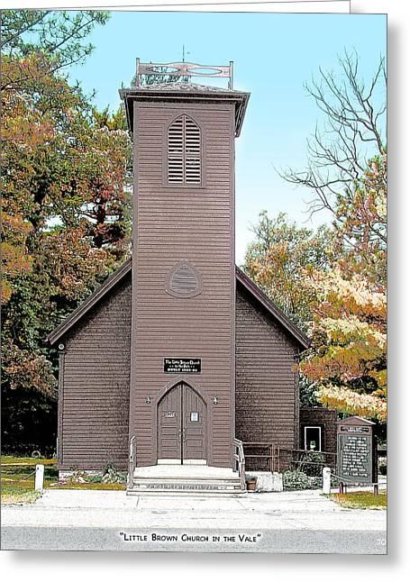 Little Brown Church Greeting Card
