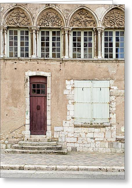 Greeting Card featuring the photograph Little Brown Door by Melanie Alexandra Price