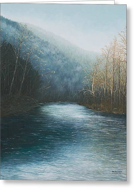 Arkansas Paintings Greeting Cards - Little Buffalo River Greeting Card by Mary Ann King