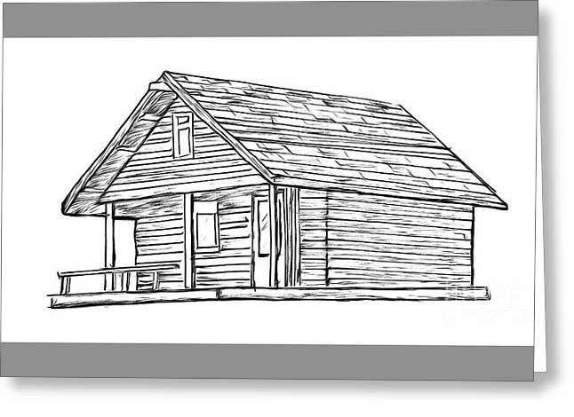 Little Cabin In The Woods Greeting Card by Edward Fielding