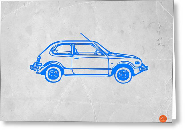 Little Car Greeting Card by Naxart Studio