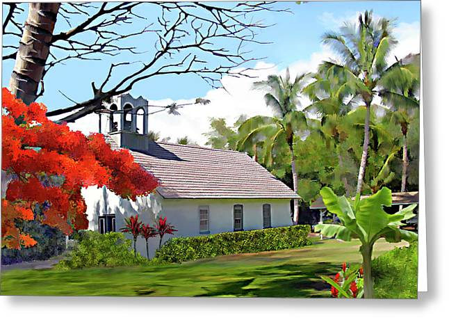 Little Church At Puako Big Island Greeting Card
