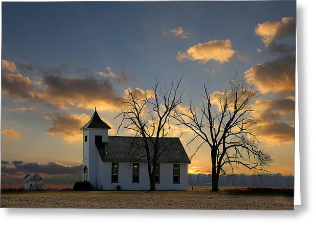 Little Church On The Prairie Greeting Card