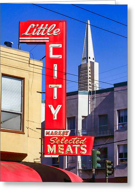 Little City Market North Beach San Francisco Greeting Card
