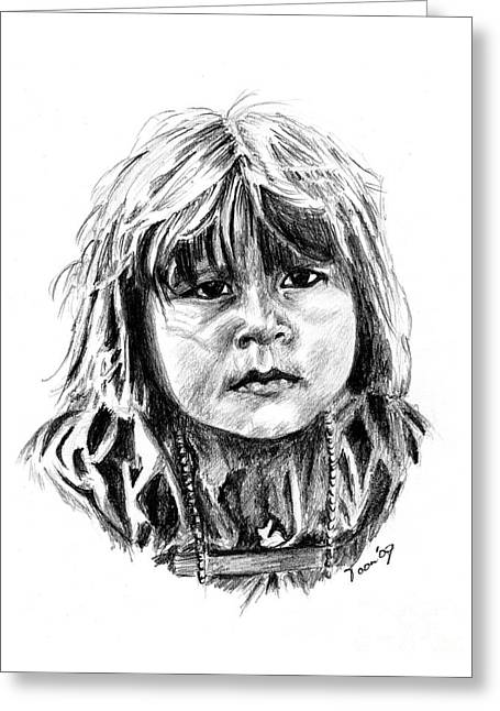 Little Comanche Greeting Card