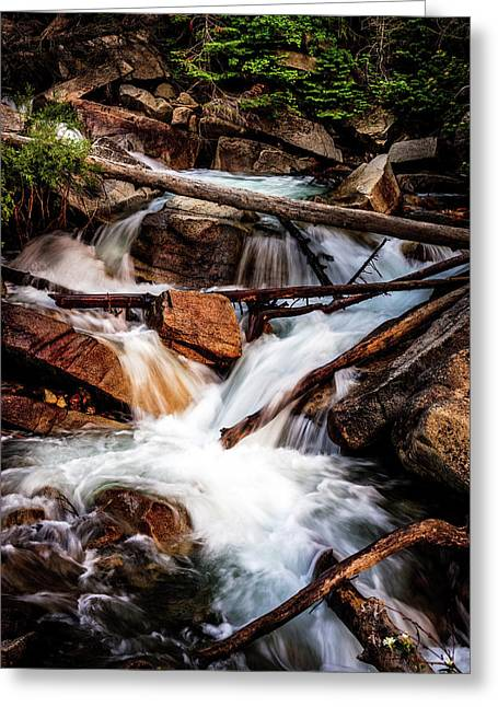 Little Cottonwood Cascades Greeting Card by TL Mair